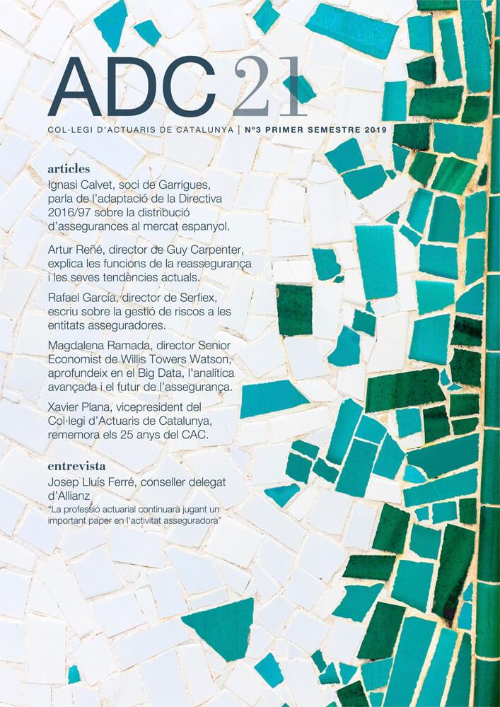 ADC21. Col·legi d'Actuaris de Catalunya, N3 Primer Semestre 2019