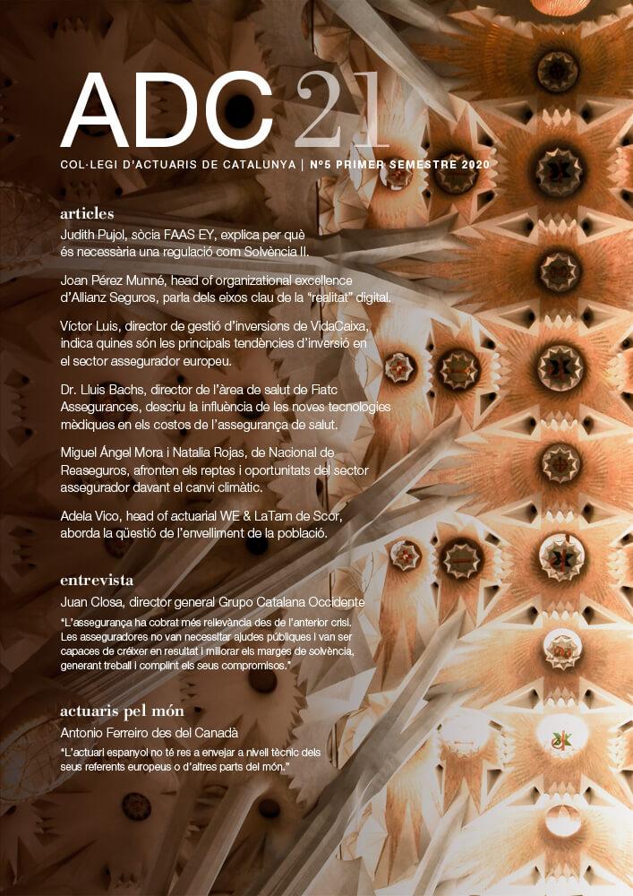 ADC21. Col·legi d'Actuaris de Catalunya, N5 Primer Semestre 2020