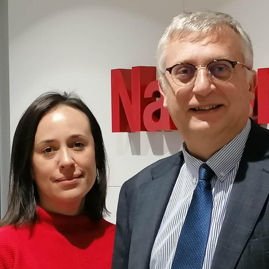 Miguel Ángel Mora y Natalia Rojas, Nacional de Reaseguros