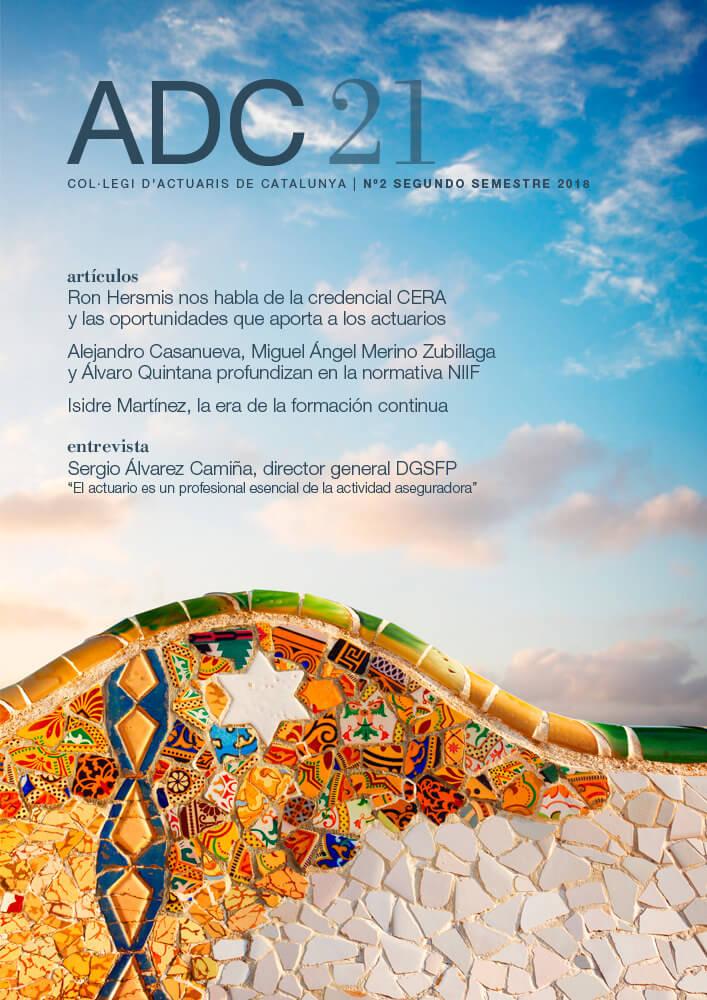 ADC21. Col·legi d'Actuaris de Catalunya, Septiembre 2018